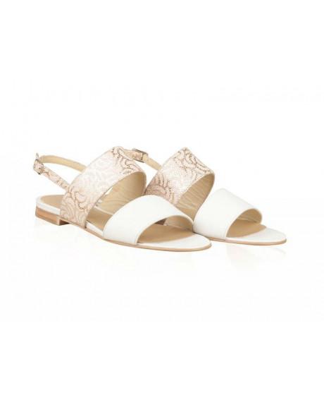 Sandale piele Classy talpa joasa N56 - sau Orice Culoare