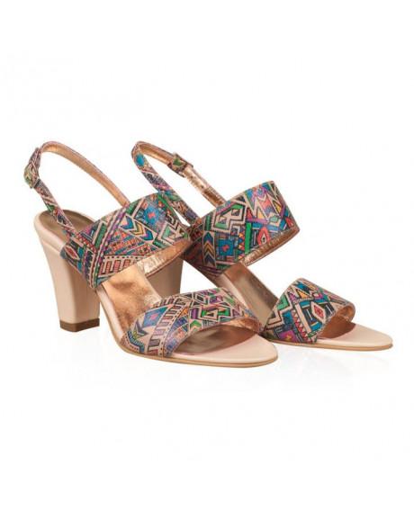 Sandale piele Cora multicolor N10 - sau Orice Culoare