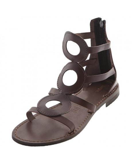 Sandale piele dama Giorgia, maro