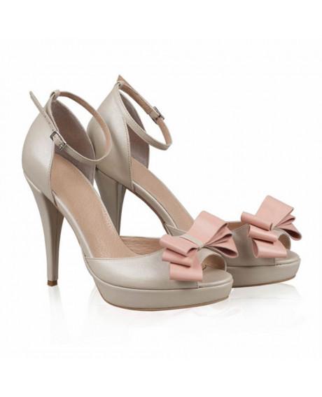 Sandale piele Eva sidefat - N55 - sau Orice Culoare