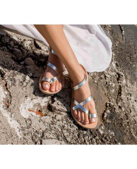 Sandale piele Glady argintii