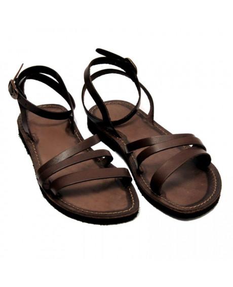 Sandale piele Iris maro