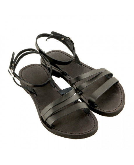 Sandale piele Iris negre