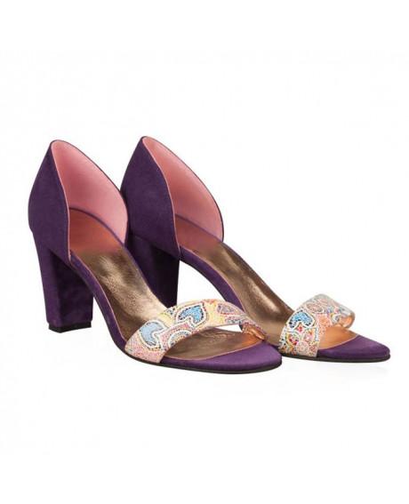 Sandale piele Isoletta multicolor N22 - sau Orice Culoare