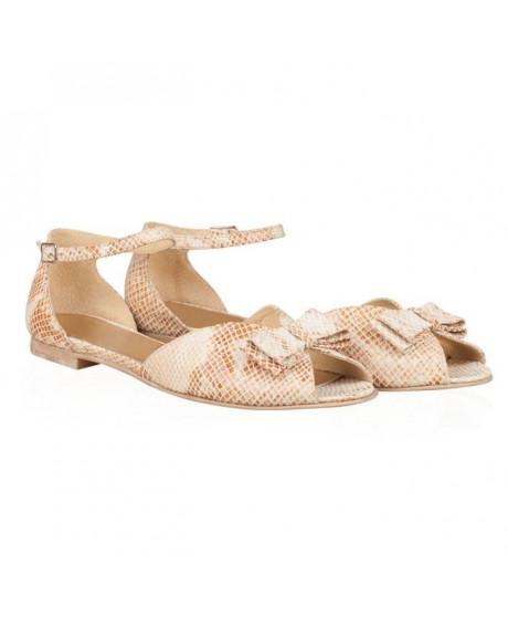 Sandale piele cu talpa joasa Delia N145 - sau orice culoare