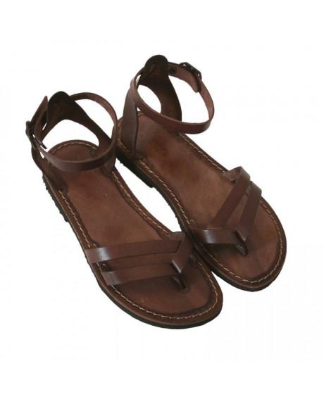 Sandale piele maro Ada