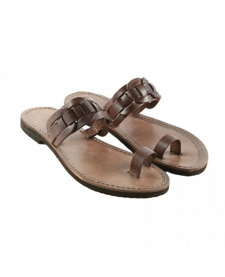 Sandale piele maro Elisa