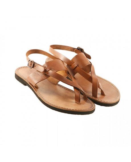 Sandale piele model Perla maro