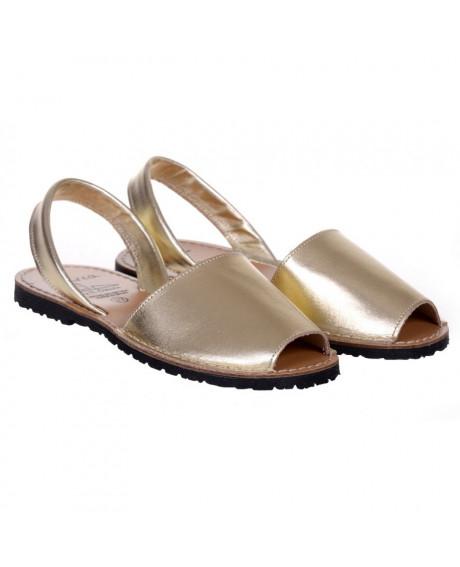 Sandale piele Avarca aurii