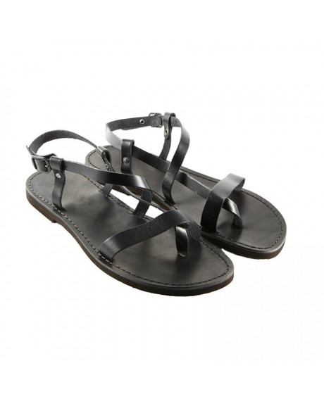 Sandale piele negre Erika