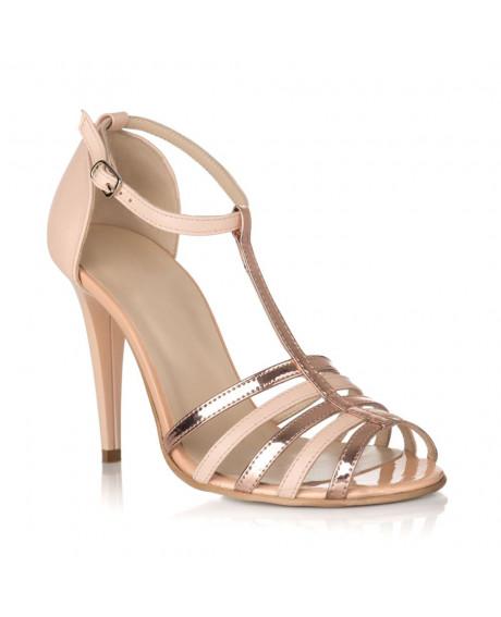 Sandale Rovana din piele naturala aurii/nude S55 - sau orice culoare