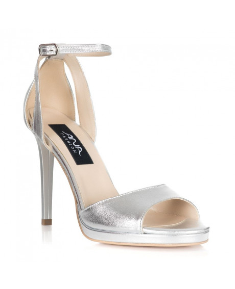 Sandale piele naturala Style argintii S56 - sau orice culoare