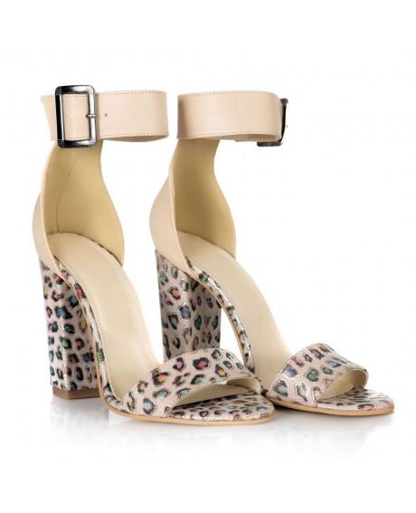 Sandale print piele naturala Olivia L21 - sau Orice Culoare