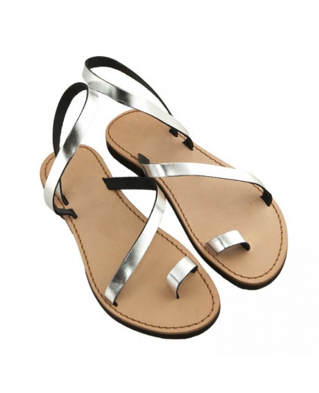 Sandale Romane Aida Argintii