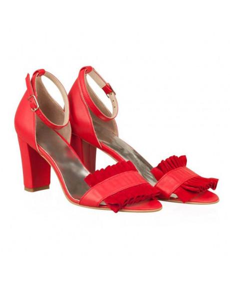 Sandale rosii Darla N31 - sau Orice Culoare