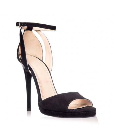 Sandale piele naturala Style negre piele intoarsa S25 - sau orice culoare