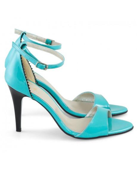 Sandale piele naturala Liza turqoise D4 - sau orice culoare