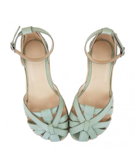 Sandale vernil din piele naturala Rozalia D107 - sau Orice Culoare