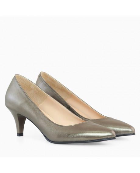 Pantofi bronz din piele naturala July D10 - sau Orice Culoare