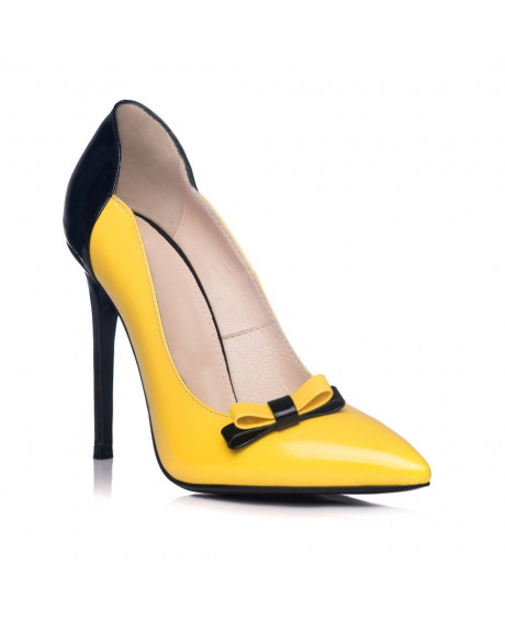 Pantofi Stiletto Yellow Chic piele naturala L 3AF - marimea 37