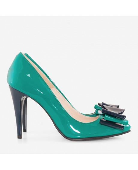 Pantofi Stilettos din piele lacuita D5
