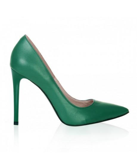 Pantofi Stiletto verde Lucy S57 - sau Orice Culoare